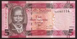 Sudan del Sur 5 Pounds Pick 11 (2015) UNC