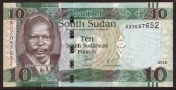 Sudán del Sur 10 Libras PK Nuevo (12) (2.016) S/C