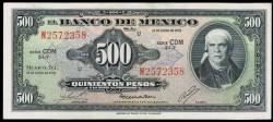 México 500 Pesos Pick 51t (18-1-1978) UNC
