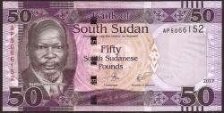 South Sudan 50 Pound Pick New (14) (2017) UNC