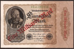 Germany 1 Million Marks in 1,000 Marks PK 113a (15-12-1922) UNC