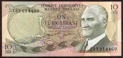 Turquía 10 Liras PK 186 (1.975) S/C