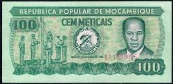 Mozambique 100 Meticais PK 126 (16-6-1.980) S/C-