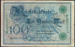 Alemania 100 Marcos PK 34 (7-2-1.908) MBC
