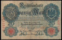 Alemania 20 Marcos PK 40a (7-2-1.908) MBC-