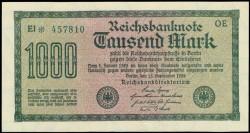 Germany 1000 Mark Pick 76a (15-9-1922) aUNC