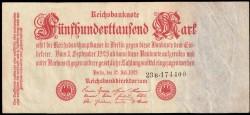 Alemania 500.000 Marcos PK 92 (25-7-1.923) MBC