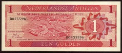 Antillas Holandesas 1 Gulden PK 20 (1970) S/C