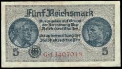 Alemania 5 Marcos PK R 138b (1940-1945) MBC+