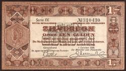 Netherlands 1 Gulden Pick 61 (1-10-1938) aXF