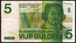 Netherlands 5 Gulden Pick 95 (28-3-1973) aVF