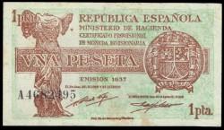 1 Peseta 1937 República EBC-