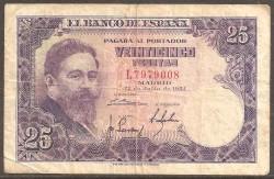 25 Pesetas 1954 Isaac Albéniz MBC-