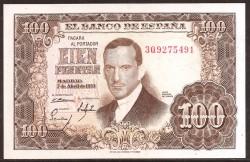 100 Pesetas 1953 Julio Romero de Torres EBC