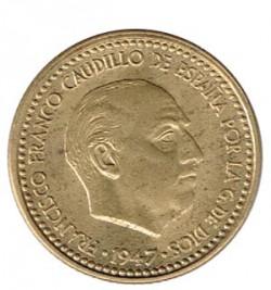 1 Peseta 1947 (52) KM 775 aUNC