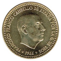1 Peseta 1966 (73) KM 796 UNC