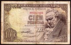 100 Pesetas 1946. Pick 131. aVF