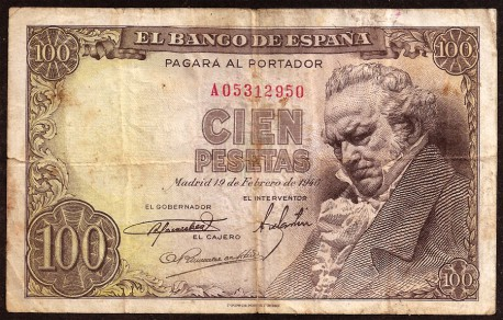 100 Pesetas 1946 Goya MBC-