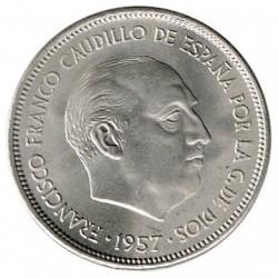 25 Pesetas 1957 (67) KM 787 UNC