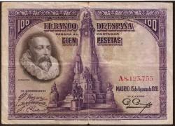 100 Pesetas 1928 Cervantes MBC-