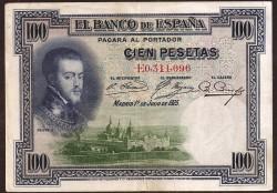 100 Pesetas 1925 Felipe II MBC