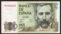 1000 Pesetas 1979 Benito Pérez Galdós MBC