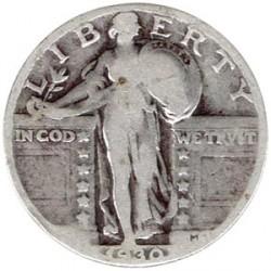 Estados Unidos 1930 1/4 de Dólar (Standing Liberty) BC