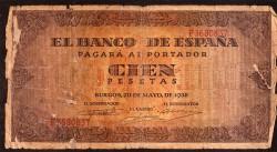 100 Pesetas 1938 Burgos. Casa del Cordón MC