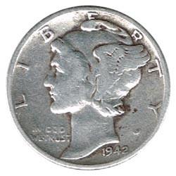 Estados Unidos 1942 - 1944 Mercury Dime MBC