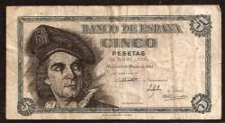 5 Ptas 1948 Juan Sebastián de Elcano BC+