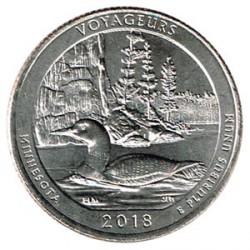 Estados Unidos (Parques) 2018 1/4 Dólar D (Voyageurs) S/C