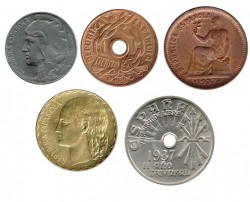Lote 5 monedas Guerra Civil EBC+ - S/C-