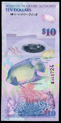 Bermuda 10 Dólares PK 59 (1-1-2.009) S/C