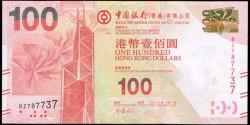 Hong Kong 100 Dólares PK 343b (1-1-2.012) Bank of China S/C