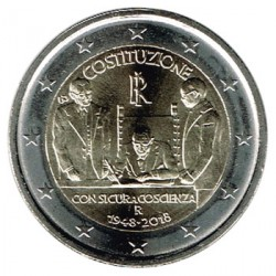 Italy 2018 2 Euro 70th Anniversary of Italian Constitution UNC