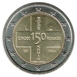 Belgium 2014 2 Euro Red Cross aUNC