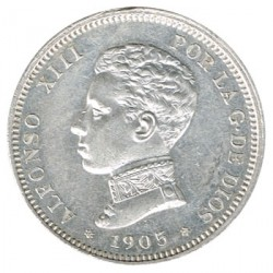 2 Pesetas Alfonso XIII 1905 * 05 EBC