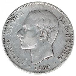 5 Pesetas 1884 * 84 MBC-