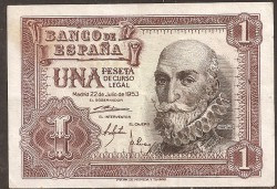 1 Peseta 1953 Pick 144 VF+