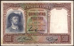 500 Pesetas 1931 Juan Sebastián Elcano MBC-