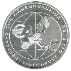Germany 2002 10 Euro Silver F Map aUNC