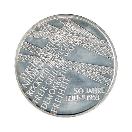 Alemania 2003 10 Euros Plata Ceca A.17 de Junio. S/C