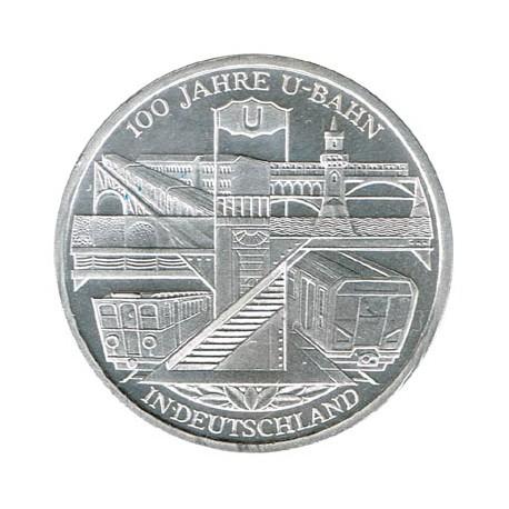 Alemania 2002 10 Euros Plata Ceca D Metro S/C