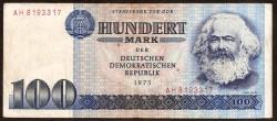 Alemania Democrática 100 Marcos PK 31 (1.975) MBC-
