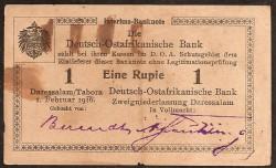 África Alemana del Este 1 Rupia PK 19 (1-2-.916) MBC
