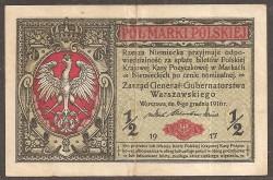 Poland 1/2 Marki Pick 7 (1917) aVF