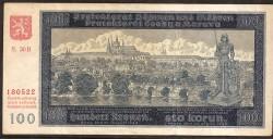 Bohemia-Moravia 100 Kronen Pick 6 (20-8-1940) VF