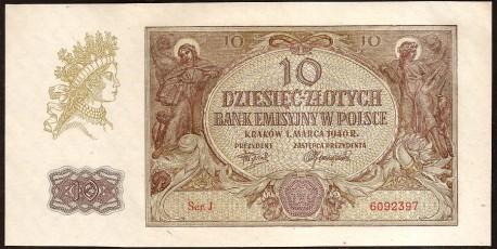 Polonia 10 Zlotych PK 94 (1-3-1.940) S/C-
