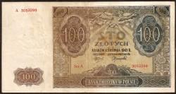 Poland 100 Zlotych Pick 103 (1941) VF