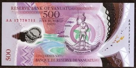 Vanuatu 500 Vatu Pk 18 (2.017) S/C